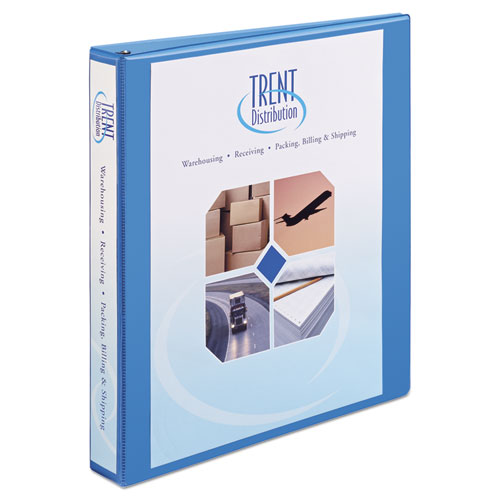 "Heavy-Duty Non Stick View Binder with DuraHinge and Slant Rings, 3 Rings, 1"" Capacity, 11 x 8.5, Light Blue, (5301). The main picture."