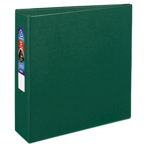 """Heavy-Duty Non-View Binder with DuraHinge and Locking One Touch EZD Rings, 3 Rings, 3"""" Capacity, 11 x 8.5, Green. Picture 6"""