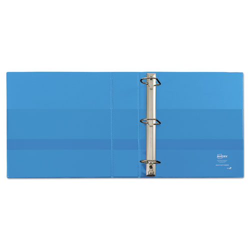 """Heavy-Duty Non Stick View Binder with DuraHinge and Slant Rings, 3 Rings, 2"""" Capacity, 11 x 8.5, Light Blue, (5501). Picture 2"""