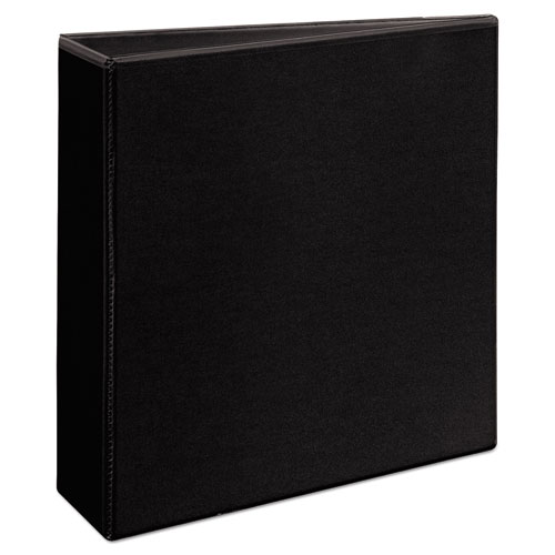 """Heavy-Duty Non Stick View Binder with DuraHinge and Slant Rings, 3 Rings, 3"""" Capacity, 11 x 8.5, Black, (5600). Picture 5"""