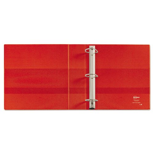 """Heavy-Duty Non-View Binder with DuraHinge and One Touch EZD Rings, 3 Rings, 2"""" Capacity, 11 x 8.5, Red. Picture 3"""