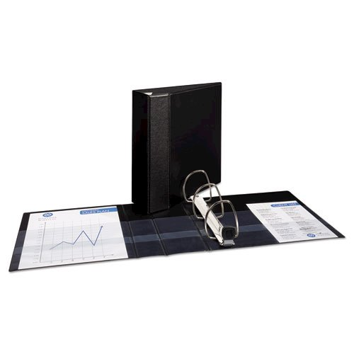 """Heavy-Duty Non-View Binder with DuraHinge and Locking One Touch EZD Rings, 3 Rings, 4"""" Capacity, 11 x 8.5, Black. Picture 2"""