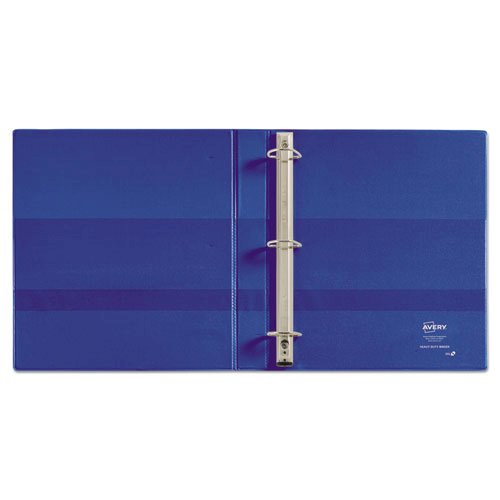 """Heavy-Duty Non-View Binder with DuraHinge and One Touch EZD Rings, 3 Rings, 1"""" Capacity, 11 x 8.5, Blue. Picture 2"""