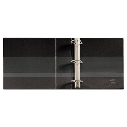 """Heavy-Duty Non Stick View Binder with DuraHinge and Slant Rings, 3 Rings, 3"""" Capacity, 11 x 8.5, Black, (5600). Picture 4"""
