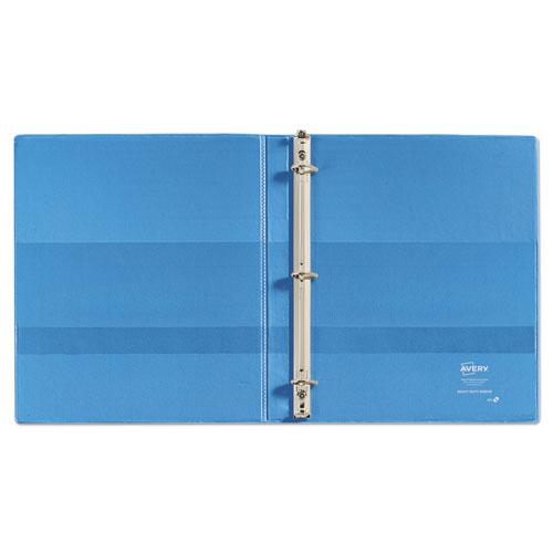 """Heavy-Duty Non Stick View Binder with DuraHinge and Slant Rings, 3 Rings, 0.5"""" Capacity, 11 x 8.5, Light Blue, (5004). Picture 5"""