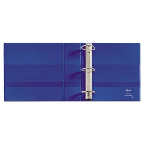 "Heavy-Duty Non-View Binder with DuraHinge and Locking One Touch EZD Rings, 3 Rings, 3"" Capacity, 11 x 8.5, Blue. Picture 3"
