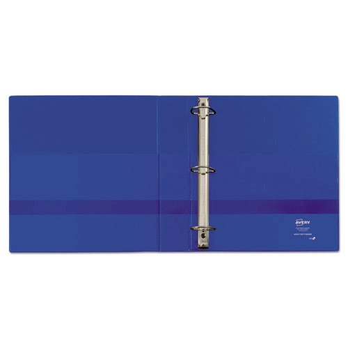 """Heavy-Duty Non-View Binder with DuraHinge and One Touch EZD Rings, 3 Rings, 1.5"""" Capacity, 11 x 8.5, Blue. Picture 3"""