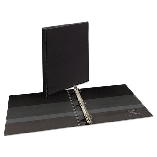 """Heavy-Duty Non Stick View Binder with DuraHinge and Slant Rings, 3 Rings, 0.5"""" Capacity, 11 x 8.5, Black, (5233). Picture 2"""