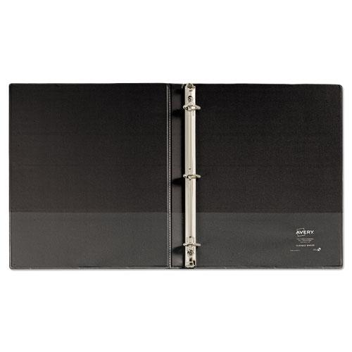 """Durable View Binder with DuraHinge and Slant Rings, 3 Rings, 0.5"""" Capacity, 11 x 8.5, Black. Picture 3"""