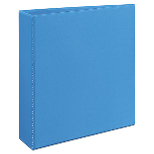 """Heavy-Duty Non Stick View Binder with DuraHinge and Slant Rings, 3 Rings, 2"""" Capacity, 11 x 8.5, Light Blue, (5501). Picture 3"""
