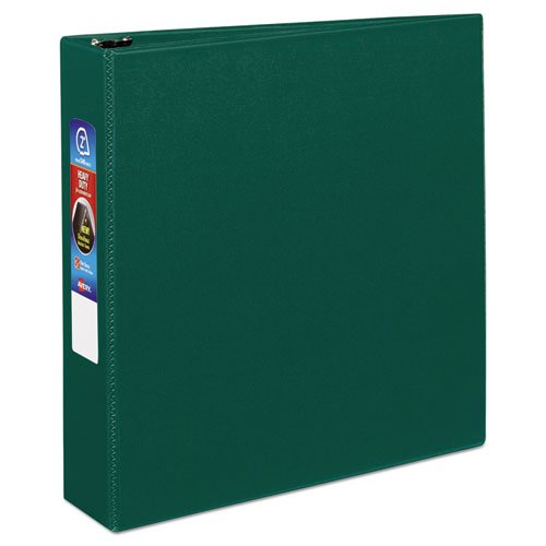 """Heavy-Duty Non-View Binder with DuraHinge and One Touch EZD Rings, 3 Rings, 2"""" Capacity, 11 x 8.5, Green. Picture 7"""