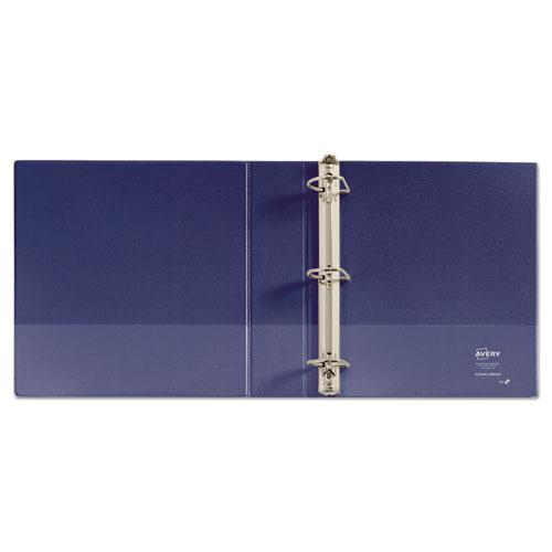 """Durable View Binder with DuraHinge and Slant Rings, 3 Rings, 2"""" Capacity, 11 x 8.5, Blue. Picture 8"""
