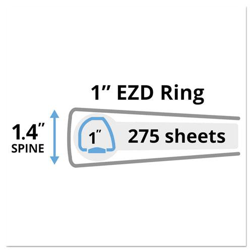 "Heavy-Duty Non-View Binder with DuraHinge and One Touch EZD Rings, 3 Rings, 1"" Capacity, 11 x 8.5, Red. Picture 4"