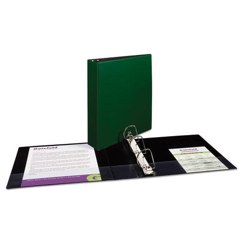 """Durable Non-View Binder with DuraHinge and Slant Rings, 3 Rings, 2"""" Capacity, 11 x 8.5, Green. Picture 2"""