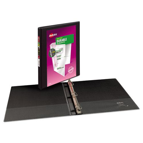 """Durable View Binder with DuraHinge and Slant Rings, 3 Rings, 0.5"""" Capacity, 11 x 8.5, Black. Picture 8"""