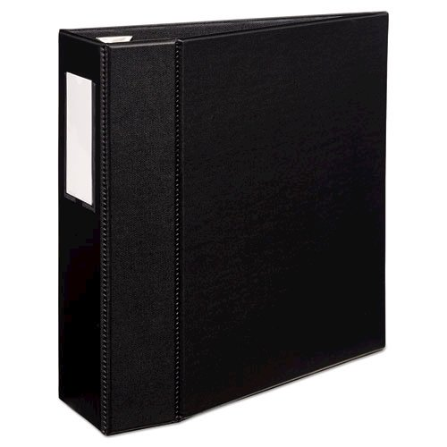 """Heavy-Duty Non-View Binder with DuraHinge, Three Locking One Touch EZD Rings and Spine Label, 4"""" Capacity, 11 x 8.5, Black. Picture 3"""