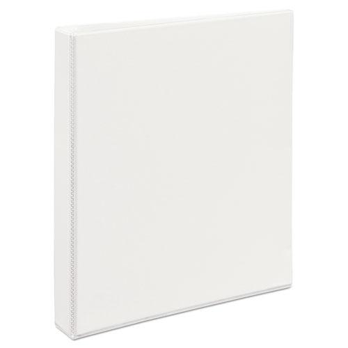 """Durable View Binder with DuraHinge and EZD Rings, 3 Rings, 1"""" Capacity, 11 x 8.5, White, (9301). Picture 6"""