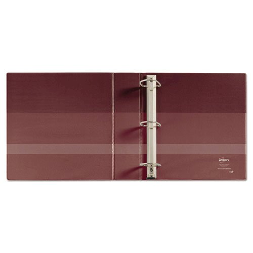 """Heavy-Duty Non-View Binder with DuraHinge and Locking One Touch EZD Rings, 3 Rings, 4"""" Capacity, 11 x 8.5, Maroon. Picture 3"""