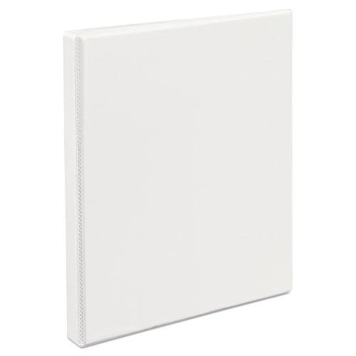 """Durable View Binder with DuraHinge and Slant Rings, 3 Rings, 0.5"""" Capacity, 11 x 8.5, White. Picture 7"""