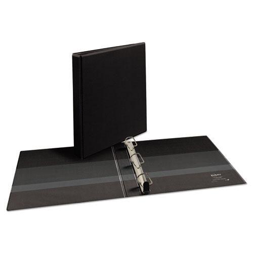 """Heavy-Duty Non Stick View Binder with DuraHinge and Slant Rings, 3 Rings, 1"""" Capacity, 11 x 8.5, Black, (5300). Picture 3"""