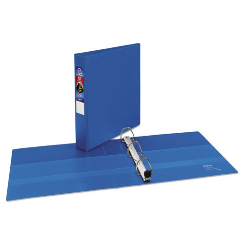 """Heavy-Duty Non-View Binder with DuraHinge and One Touch EZD Rings, 3 Rings, 1.5"""" Capacity, 11 x 8.5, Blue. Picture 2"""