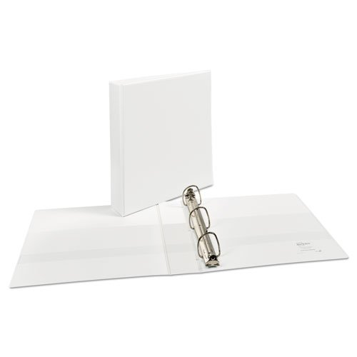 """Durable View Binder with DuraHinge and EZD Rings, 3 Rings, 1.5"""" Capacity, 11 x 8.5, White. Picture 3"""