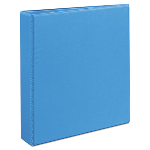 "Heavy-Duty Non Stick View Binder with DuraHinge and Slant Rings, 3 Rings, 1.5"" Capacity, 11 x 8.5, Light Blue, (5401). Picture 3"