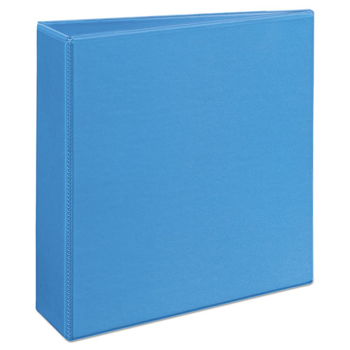 """Heavy-Duty Non Stick View Binder with DuraHinge and Slant Rings, 3 Rings, 3"""" Capacity, 11 x 8.5, Light Blue, (5601). Picture 4"""