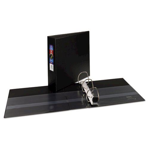 "Heavy-Duty Non-View Binder with DuraHinge and Locking One Touch EZD Rings, 3 Rings, 3"" Capacity, 11 x 8.5, Black. Picture 2"