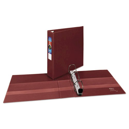 """Heavy-Duty Non-View Binder with DuraHinge and One Touch EZD Rings, 3 Rings, 2"""" Capacity, 11 x 8.5, Maroon. Picture 2"""