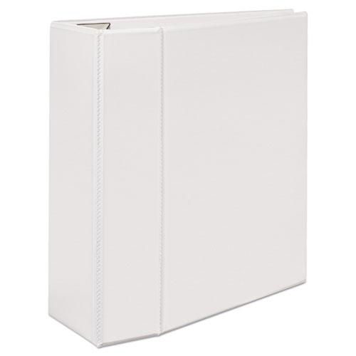"""Heavy-Duty View Binder with DuraHinge and Locking One Touch EZD Rings, 3 Rings, 5"""" Capacity, 11 x 8.5, White. Picture 10"""