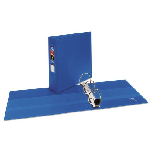 "Heavy-Duty Non-View Binder with DuraHinge and Locking One Touch EZD Rings, 3 Rings, 3"" Capacity, 11 x 8.5, Blue. Picture 2"