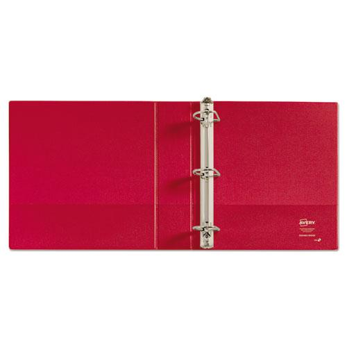 """Durable Non-View Binder with DuraHinge and Slant Rings, 3 Rings, 2"""" Capacity, 11 x 8.5, Red. Picture 3"""