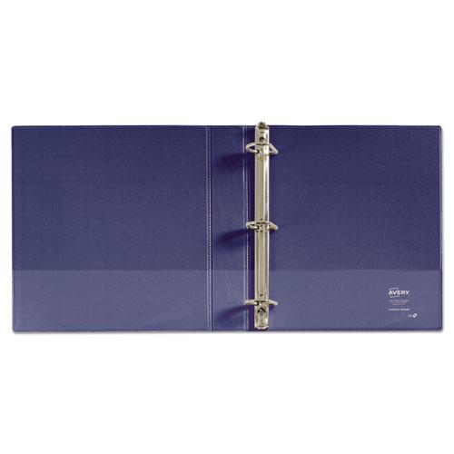 """Durable View Binder with DuraHinge and Slant Rings, 3 Rings, 1.5"""" Capacity, 11 x 8.5, Blue. Picture 6"""