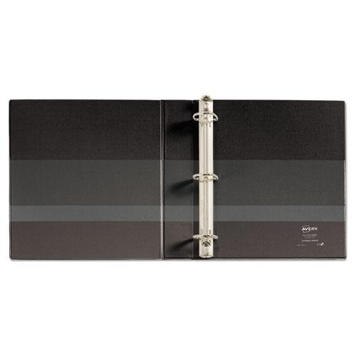 """Durable View Binder with DuraHinge and EZD Rings, 3 Rings, 1.5"""" Capacity, 11 x 8.5, Black, (9400). Picture 3"""