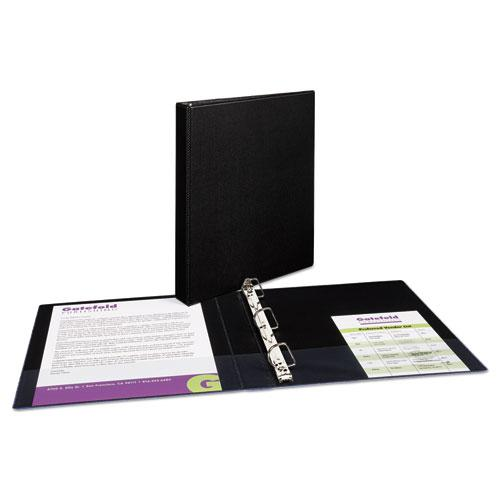 """Durable Non-View Binder with DuraHinge and Slant Rings, 3 Rings, 1"""" Capacity, 11 x 8.5, Black. Picture 3"""