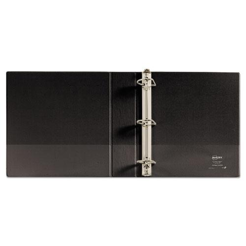 "Durable Non-View Binder with DuraHinge and Slant Rings, 3 Rings, 2"" Capacity, 11 x 8.5, Black. Picture 3"