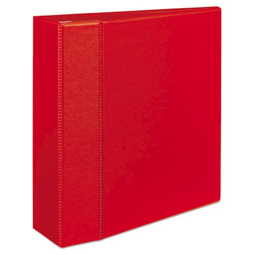 """Heavy-Duty Non-View Binder with DuraHinge and Locking One Touch EZD Rings, 3 Rings, 4"""" Capacity, 11 x 8.5, Red. Picture 4"""