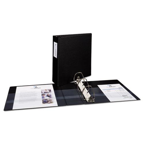 """Durable Non-View Binder with DuraHinge and EZD Rings, 3 Rings, 3"""" Capacity, 11 x 8.5, Black, (8702). Picture 5"""