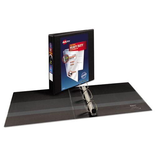 """Heavy-Duty View Binder with DuraHinge and One Touch EZD Rings, 3 Rings, 1.5"""" Capacity, 11 x 8.5, Black. Picture 4"""