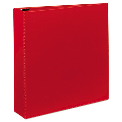 """Heavy-Duty Non-View Binder with DuraHinge and One Touch EZD Rings, 3 Rings, 2"""" Capacity, 11 x 8.5, Red. Picture 2"""