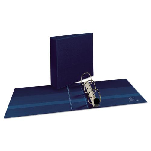 """Heavy-Duty View Binder with DuraHinge and Locking One Touch EZD Rings, 3 Rings, 3"""" Capacity, 11 x 8.5, Navy Blue. Picture 9"""