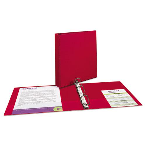 """Durable Non-View Binder with DuraHinge and Slant Rings, 3 Rings, 1.5"""" Capacity, 11 x 8.5, Red. Picture 7"""