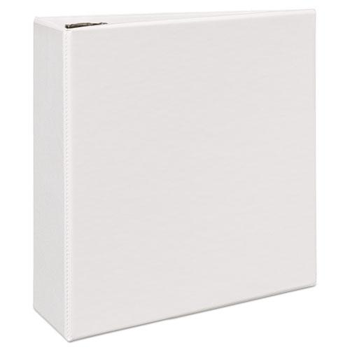 """Durable View Binder with DuraHinge and EZD Rings, 3 Rings, 4"""" Capacity, 11 x 8.5, White, (9801). Picture 2"""