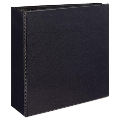 """Durable View Binder with DuraHinge and EZD Rings, 3 Rings, 4"""" Capacity, 11 x 8.5, Black, (9800). Picture 8"""