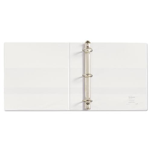 """Durable View Binder with DuraHinge and EZD Rings, 3 Rings, 1.5"""" Capacity, 11 x 8.5, White, (9401). Picture 6"""