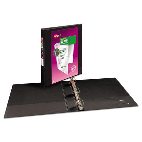 """Durable View Binder with DuraHinge and Slant Rings, 3 Rings, 1"""" Capacity, 11 x 8.5, Black. Picture 8"""