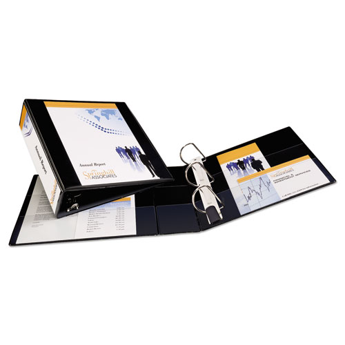 """Heavy-Duty Non Stick View Binder with DuraHinge and Slant Rings, 3 Rings, 3"""" Capacity, 11 x 8.5, Black, (5600). Picture 7"""