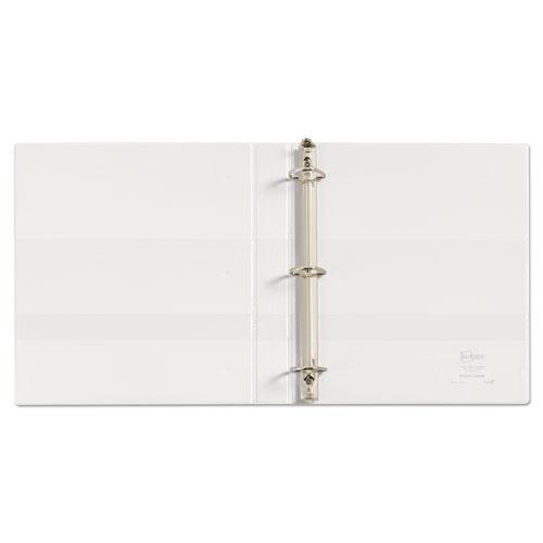 """Durable View Binder with DuraHinge and EZD Rings, 3 Rings, 1"""" Capacity, 11 x 8.5, White, (9301). Picture 4"""