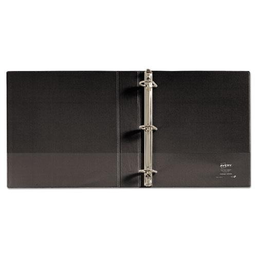 """Durable Non-View Binder with DuraHinge and Slant Rings, 3 Rings, 1.5"""" Capacity, 11 x 8.5, Black. Picture 3"""